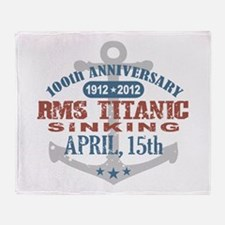 Titanic Sinking Anniversary Throw Blanket