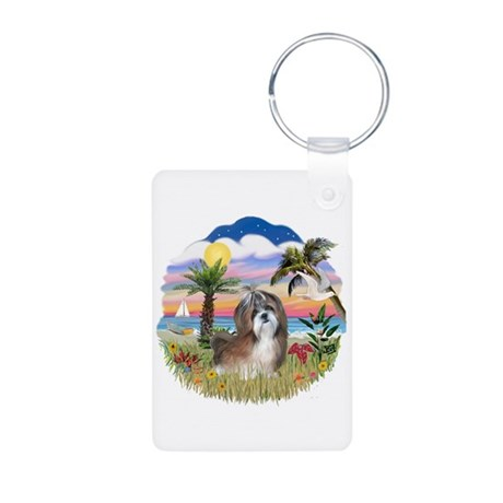 Palms-Shih Tzu #8 Aluminum Photo Keychain