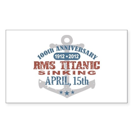 Titanic Sinking Anniversary Sticker (Rectangle)