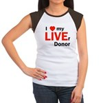 Live Liver Donor Women's Cap Sleeve T-Shirt