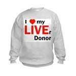 Live Liver Donor Kids Sweatshirt