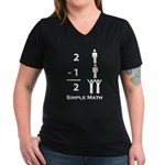 Simple Math Women's V-Neck Dark T-Shirt