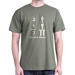 Simple Math Black T-Shirt