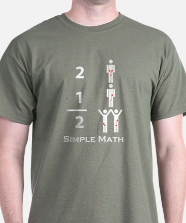 Simple Math Black T-Shirt
