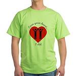 Open Your Heart Green T-Shirt
