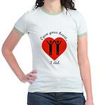 Open Your Heart Jr. Ringer T-Shirt