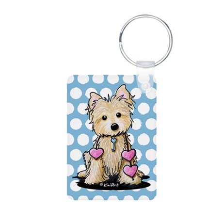 Heartstrings Cairn Terrier Aluminum Photo Keychain