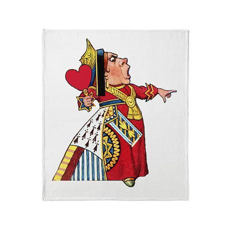The Queen of Hearts Throw Blanket