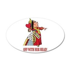 The Queen of Hearts 35x21 Oval Wall Decal