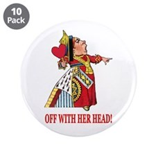 """The Queen of Hearts 3.5"""" Button (10 pack)"""