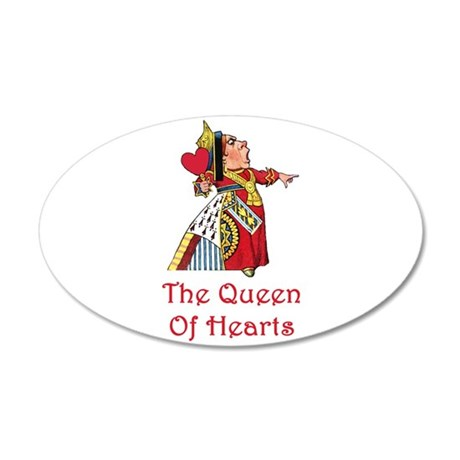 The Queen of Hearts 38.5 x 24.5 Oval Wall Peel