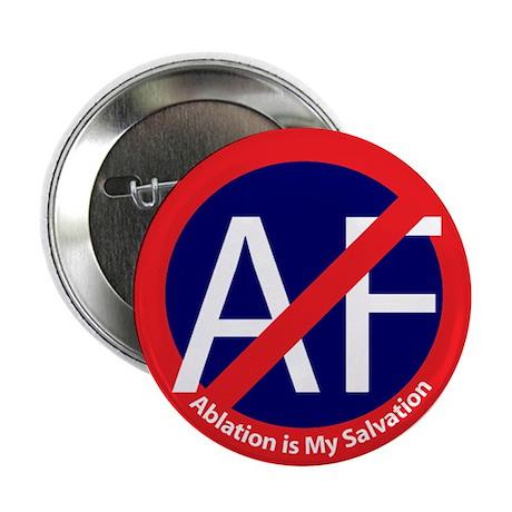 """No Atrial Fibrillation 2.25"""" Button (10 pack)"""