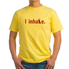 I inhale Yellow T-Shirt