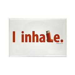 I Inhale Rectangle Magnet