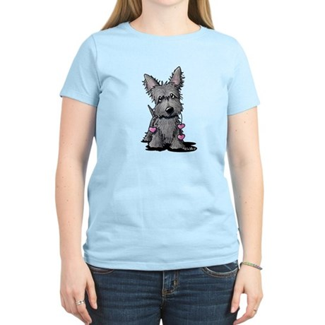 Heartstrings Scottie Terrier Women's Light T-Shirt