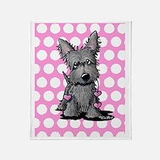 Heartstrings Scottie Terrier Throw Blanket
