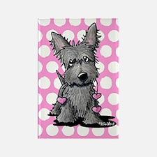 Heartstrings Scottie Terrier Rectangle Magnet