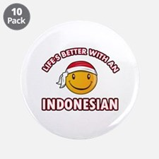"Cute Indonesian designs 3.5"" Button (10 pack)"