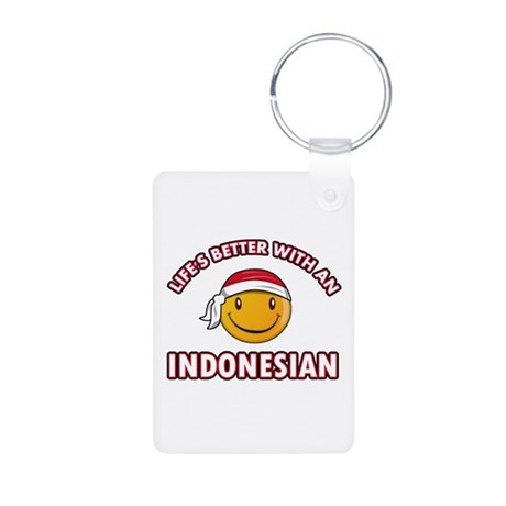 Cute Indonesian designs Aluminum Photo Keychain