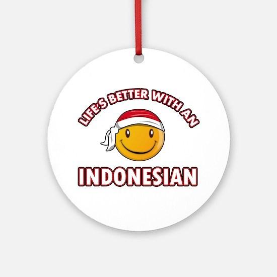 Cute Indonesian designs Ornament (Round)