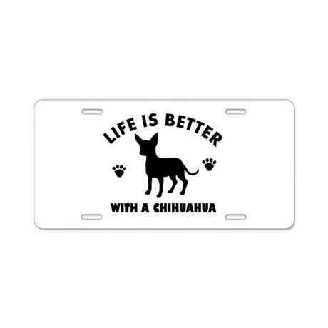 Chihuahua Breed Design Aluminum License Plate