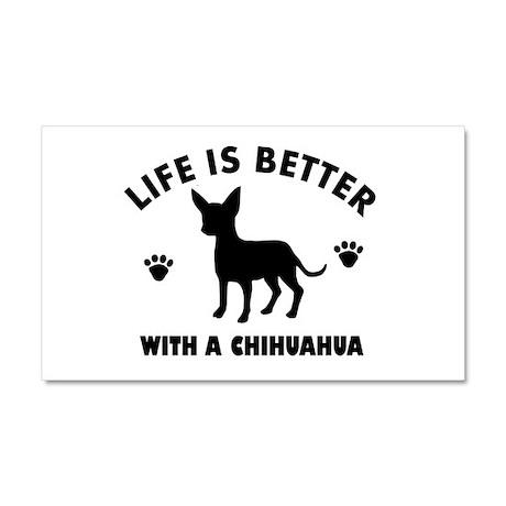 Chihuahua Breed Design Car Magnet 20 x 12