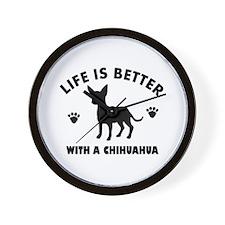 Chihuahua Breed Design Wall Clock