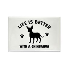 Chihuahua Breed Design Rectangle Magnet (10 pack)