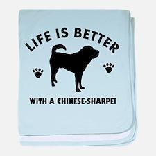 Chinese Sharpie Breed Design baby blanket