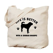 Chinese Sharpie Breed Design Tote Bag