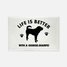 Chinese Sharpie Breed Design Rectangle Magnet (10