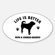 Chinese Sharpie Breed Design Decal