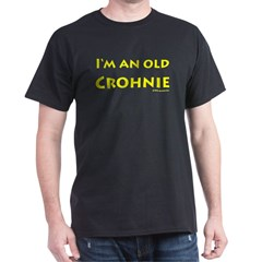 Old Crohnie Black T-Shirt