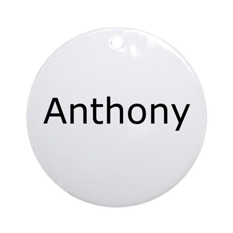Anthony Ornament (Round)