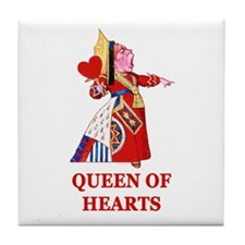 The Queen of Hearts Tile Coaster