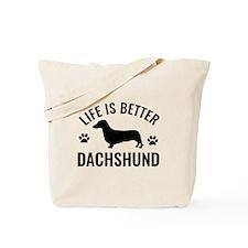 Daschund Design Tote Bag