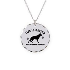 German shepherd breed Design Necklace