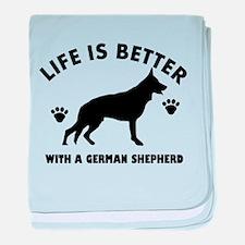 German shepherd breed Design baby blanket