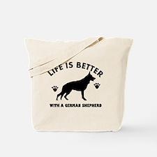 German shepherd breed Design Tote Bag