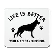 German shepherd breed Design Mousepad