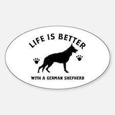 German shepherd breed Design Sticker (Oval)
