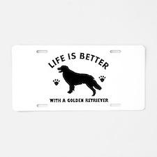 Golden retriever breed Design Aluminum License Pla