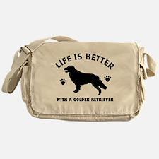 Golden retriever breed Design Messenger Bag
