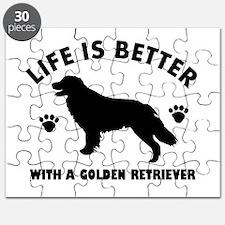 Golden retriever breed Design Puzzle