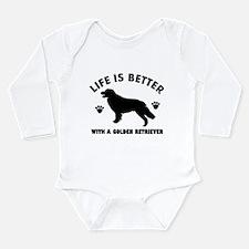 Golden retriever breed Design Long Sleeve Infant B