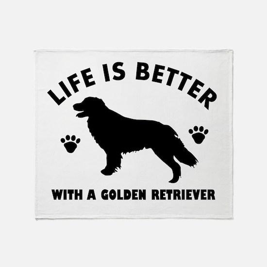 Golden retriever breed Design Throw Blanket