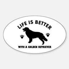 Golden retriever breed Design Sticker (Oval)