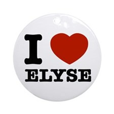 I love Elyse Ornament (Round)