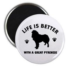 Great Pyrenese breed Design Magnet