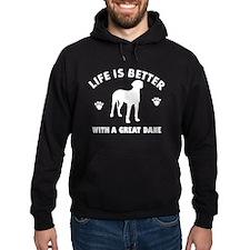 Great Dane breed Design Hoodie